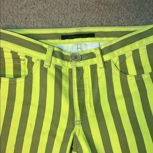 Marc Jacobs Yellow & Tan Striped Jeans